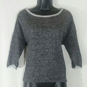 LUSH Gray Crop Top Back Slit Size S